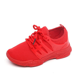 Shoe Child Red Australia - Kids Shoes Children Sneakers Child Sneakers 2019 Spring Autumn Boys Sports Running Shoes Baby Girls Black Red Mesh Shoes
