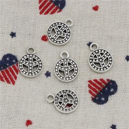 Peace Symbol Pendants Wholesale Australia - 240pcs Charms peace symbol 16*12mm Pendant, Tibetan Silver Pendant,For DIY Necklace & Bracelets Jewelry Accessories