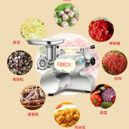 Grinder commercial online shopping - 1500W Commercial meat slicer stainless steel Fully automatic Shred Slicer dicing machine electric Multifunction Meat grinder