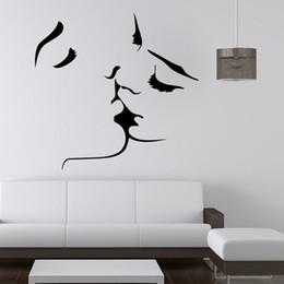 $enCountryForm.capitalKeyWord Australia - Beautiful Decoration Wall Stickers PVC Removable Living Room Wall Decorations Lover Kiss Bruce Lee Audrey Hepburn Bob Marley Portrait Decor