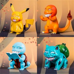 New model kids online shopping - Pikachu Figures Bulbasaur Squirtle Figma Charmander Cartoon Model Lovely For Children Cm High Quality New zs D1