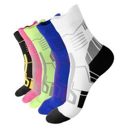 Short Compression Socks Australia - Compression socks running cycling socks short tube bicycle sports hiking running outdoor sports men's fast sweat 2019