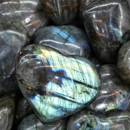 $enCountryForm.capitalKeyWord NZ - 300g ~ 500g Wholesale Crystal Heart Natural Labradorite Polished Carved Hearts For Reiki Healing decoratio