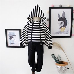 Organic Cotton Sportswear Australia - 2019 new pointed hat cotton terry cloth boys and girls sportswear spring and autumn children's casual suit (2-7T)