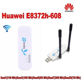 huawei usb 4g Australia - Unlocked Huawei E8372 ( plus a pair of antenna) LTE USB Wingle LTE Universal 4G USB WiFi Modem car wifi E8372h-608