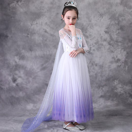Wholesale pageant halloween costumes for sale - Group buy New Girls Princess Dress Up for Girl Long Sleeve With Cloak Snow Queen Fancy Costume Halloween Pageant Party Clothes Kids Clothing M1443