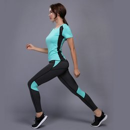 $enCountryForm.capitalKeyWord Australia - Oloey Sexy Yoga Set Sports Wear For Women Gym Tshirt + Pants Breathable Gym Workout Clothes Compressed Yoga Leggings Sport Suit Q190521