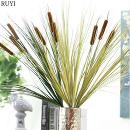Office Bathroom Decor NZ - Simulation reed plant onion grass water candle grass European style artificial plant wedding decoration home office decor 1pcs