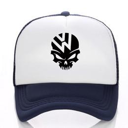 Cool VW Skull Funny logo Baseball cap Men Women 2019 Snapback Hat Hip-Hop  Hat Summer Mesh Fall Free shipping 7fa6cd43f61