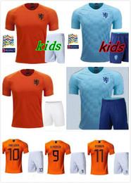 kids 2018 2019 Netherlands jersey 18 19 V.PERSIE MEMPHIS SNEIJDER football  jerseys HOLLAND ROBBEN scooer shirt 8f2b817b5