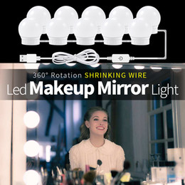 $enCountryForm.capitalKeyWord Australia - CanLing USB LED 12V Makeup Lamp Wall Light 6 10 14 Bulbs Kit For Dressing Table Stepless Dimmable Hollywood Vanity Mirror Light