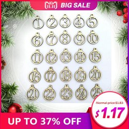 $enCountryForm.capitalKeyWord NZ - 25pcs Christmas Calendar 1-25 Wooden Christmas Advent Calendar Gift Tags Number Home Party Decorations Advent