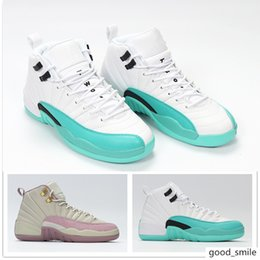 sports training shoes NZ - New Jumpman 12 12s Plum Fog Light Aqua Womens Basketball Shoes For Top quality Casual Sports Sneakers Designer Trainers Training Size 36-40