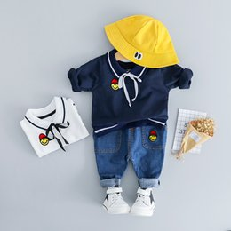 Boys' Clothing Mother & Kids 100% Quality Hylkidhuose Baby Girl Boy Clothing Sets Spring Autumn Infant Clothes Suits Plush Stripe Smiley Face Tops Pants Child Costume