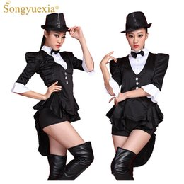 62e6e3c5419ab 2017 Black Swallowtail Ds Stage Dress Broadway Magician costumes Bar  Nightclub Start Dance Costume Show clothing