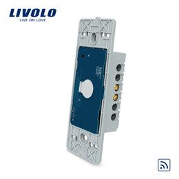 Brand Switch Wall Australia - Livolo Brand US Standard Home 1 Gang Wall Light Remote & Touch Switch , Without Glass Panel, AC110~250V