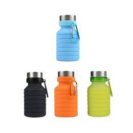 $enCountryForm.capitalKeyWord Australia - 550ML Silicone Folding Water Bottle LeakProof Kettle Kitchen Portable Water Bottle Sports Tour Running Camping Drink Bottle BPA Free