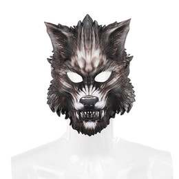 Wolf face mask online shopping - Halloween Wolf Full Face Mask Party Cosplay Masks Horror Animals Masque Halloween Party Decoration Supplies