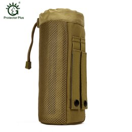 $enCountryForm.capitalKeyWord Australia - 2016 Outdoor Sport MOLLE System Tactical Water Bottle Pocket D-ring Holder Drawstring Pouch Bag,Army Durable Nylon Equipment