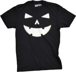 $enCountryForm.capitalKeyWord UK - Mens Happy Tooth Glowing Pumpkin Face Glow In The Dark Halloween Tee Mens 2018 fashion Brand T Shirt O-Neck 100%cotton T-Shirt