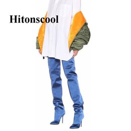 d6f2e18d11e New 2019 Fashion Autumn Women Silk Over Knee Waist Pant Boots Women Sexy  Python Snakeskin Thigh High Long Crotch Boots
