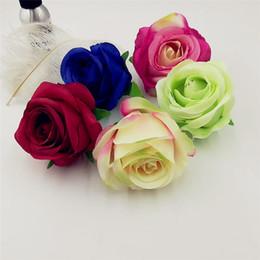 $enCountryForm.capitalKeyWord Australia - 10cm Artificial Silk Rose Flowers Heads Diy Scrapbooking Fake Flower Kiss Ball For Wedding Decorative Flower Wall Accessories