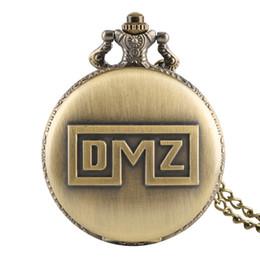 Unique Round Vintage Glasses Australia - Unique DMZ Pattern Pocket Watch for Men Vintage Bronze Women Pocket Watches Artistic Colassic Alloy Chain Pendant Watch