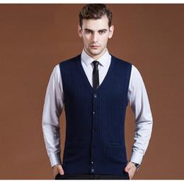 $enCountryForm.capitalKeyWord Australia - Asian Size Men's Sweater Cardigan Buttons Down Knit Jacket Basic Vest Sleeveless Wool Stylish Casual Fashion 2016A001