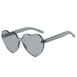 ddf41a38c4c60 Fashion Heart Shaped Sunglasses Women Brand Designer Lady Metal Reflective  Ties Sunglasses Men s UV400