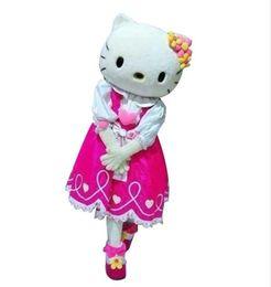 eb5de2d66b0 Adult size Hello kitty Mascot costume cat mascots costumes Free shipping