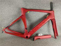 Wholesale Matte Red Colnago CONCEPT frame carbon frameset road bike Frame carbon bicycle black color design frameset