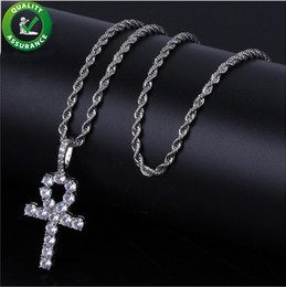 Discount designer mens chains - Hip Hop Jewelry Iced Out Pendant Designer Cross Necklace Pandora Style Bling Diamond Mens Gold Chain Pendants Luxury Lin