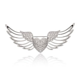 wing collar brooches NZ - Europe and the United States inlaid zircon angel wings wing brooch collar, high-end brooch pin jewelry products