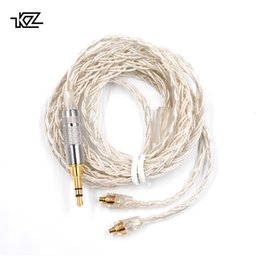 $enCountryForm.capitalKeyWord Australia - KZ AS10 ZS10 ZST ES3 ED12 ZS5 ZS6 MMCX Silver Plated Dedicated Cable Connector Upgraded Silver Plated Cabl