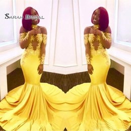 Red lace bodice online shopping - 2020 Sexy Yellow Prom Dress Formal Party Maxi Gown Mermaid Evening Wear Plus Size Off Shoulder Sheer Bodice
