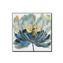 oil picture frames flowers Australia - Artwork Beautiful flowers abstract oil painting wall art pictures home decor Hand-painted landscape on canvas for living room no framed