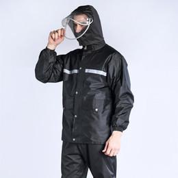 Body Suits Adults Australia - Raincoat rain pants suit waterproof body motorcycle battery split adult hiking riding fishing rain coat #219887