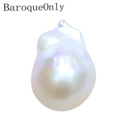 Wholesale Baroqueonly natural Irregular for DIY making design inset baroque Pearl beads white color 2019 new arrivals BE T200507