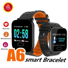 $enCountryForm.capitalKeyWord Australia - New A6 Smart Watch color Touch Screen Wristband IP67 Water Resistant Smartwatch Heart Rate Smart Bracelet Monitor for iphone Android