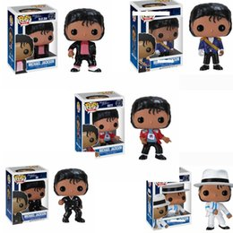 beat toy Canada - FUNKO POP MICHAEL JACKSON 5 Types Space dance BEAT IT BILLIE JEAN BAD Vinyl Action Figures Collection Model Toys for Children Birthday gift