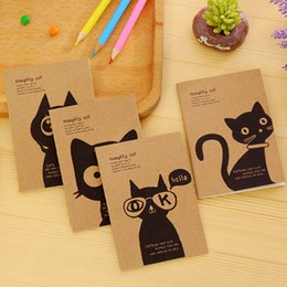 Diy Kawaii Stationery Australia - Creative cowhide DIY pocket notenook, Kawaii cat, retro, fish, hero, dream Mini diary Office School Gift Stationery.
