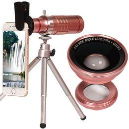 $enCountryForm.capitalKeyWord NZ - Lenses Camera For iPhone X 7 8 Plus 18X Clip-on Optical Glass zoom Lens Telescope Mobile Phone Monocular Telesphoto Tripod Lense