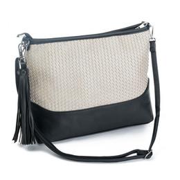 Patchwork Plaid Handbags NZ - good quality Fashion Plaid Design Shoulder Bag Women Patchwork Color Ladies Messenger Bag With Tassel Pu Leather Female Handbag