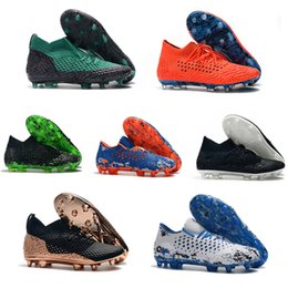 Pack Spikes Australia - Mens Future Netfit 19.1 CC FG AG Hacked Pack Griezmann Reus Suarez High Low Ankle Power Up Soccer Football Shoes Cleats