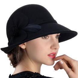 $enCountryForm.capitalKeyWord Australia - 100% Wool Vintage Felt Cloche Bucket Bowler Hat Winter Women Church Hats Fedora Hat Fall Winter Cloche Bucket Cap