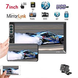 car touch screen stereo systems UK - 7 Inch 2 DIN MP5 Car Multimedia Player Bluetooth Touch Screen Stereo Radio Rear View Camera Supports For Android System