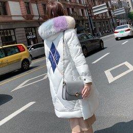 Korean women winter long coat online shopping - Winter new coat for women s cotton padded jacket Korean version thickened cotton padded coat with long length over knee for