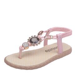 Discount sandals for toddler girls - 2019 Summer New Girls Shoes Sandals Toddler Infant Kids Beach Shoes For Big Kids Flip-Flops Sandals
