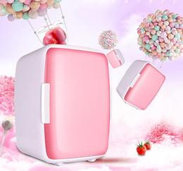 Venta al por mayor de 1 unids 6L Mini Refrigerador Coche Hogar de doble propósito de Preservación de Refrigeración Calefacción Aislamiento Térmico Vehículo Refrigerador