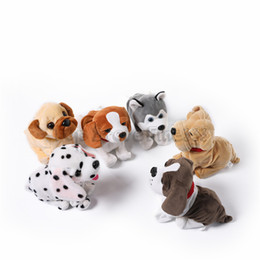 plush dog stuffed wholesale Australia - Walking and Dancing Dog Plush Toys Electronic Toys Walking Bulldog Kids Toys Electronic Bulldog Pets Doll